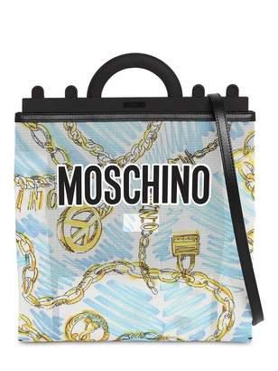 Moschino Medium Chain Print Tote Bag