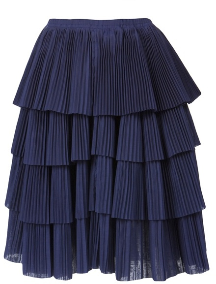 Sara Lanzi Tiered accordion skirt