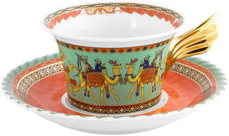 Versace 25th Anniversary Marco Polo Teacup & Saucer