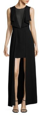 BCBGMAXAZRIA Tanika Hi-Lo Dress $338 thestylecure.com