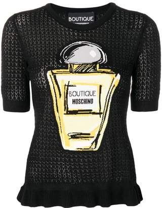 Moschino perfume bottle knitted top