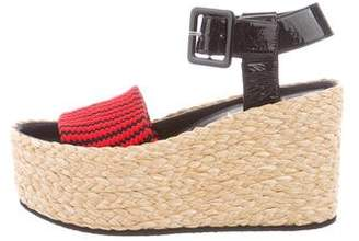 Celine Patterned Espadrille Wedges w/ Tags
