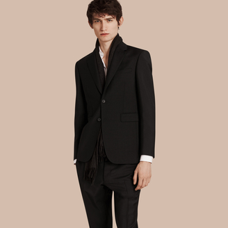 Burberry Modern Fit Wool Mohair Part-canvas Jacket $1,095 thestylecure.com