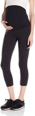 Ingrid & Isabel Women's Maternity Active Capri Pant with Crossover Panel