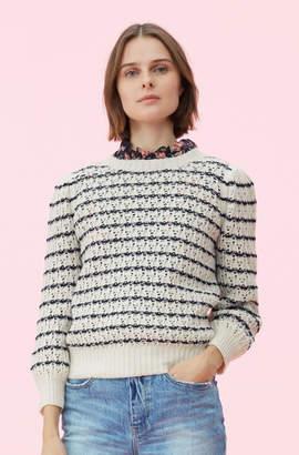Rebecca Taylor La Vie Pointelle Stripe Pullover