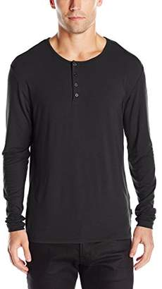 Stone Rose Men's Long Sleeve Modal Henley