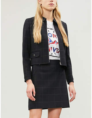 Claudie Pierlot Verite checked woven jacket