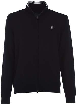 Fred Perry Blue Zip-through Cardigan