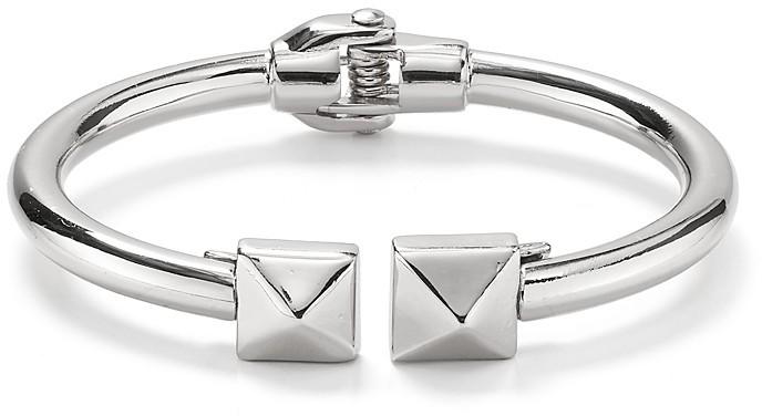 Aqua Double Stud Hinge Bracelet