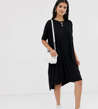 Asos Tall DESIGN Tall oversized t-shirt dress with dipped hem