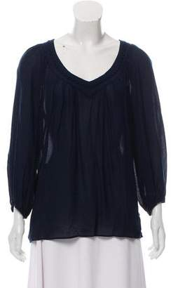 Diane von Furstenberg Sheer V-Neck Top