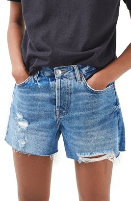 Women's Topshop Ashley Ripped Boyfriend Shorts $55 thestylecure.com