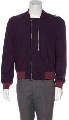 Paul Smith Leather-Trimmed Wool Jacket