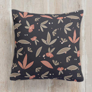 Cute Floral Whimsy Self-Launch Square Pillows