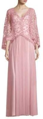 Tadashi Shoji Lace Floor-Length Gown
