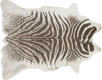 5'x8' Acadia Zebra Faux-Hide Rug - Gray - Erin Gates