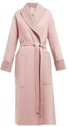 Roksanda Marley Double Breasted Wool Blend Coat - Womens - Light Pink