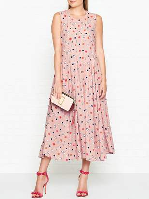 Paul Smith Spot Pleat Detail Sleeveless Dress - Pink