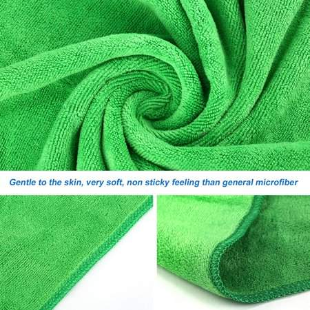 Every OUTAD Microfiber Towel Absorbent And Fast Drying Sports Towel With Carry Bag Green Color