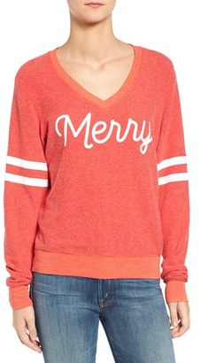 Women's Wildfox Baggy Beach Jumper - Merry Pullover $98 thestylecure.com
