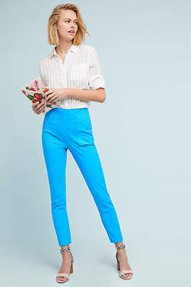 Plenty by Tracy Reese Slim Twill Ultra High-Rise Pants