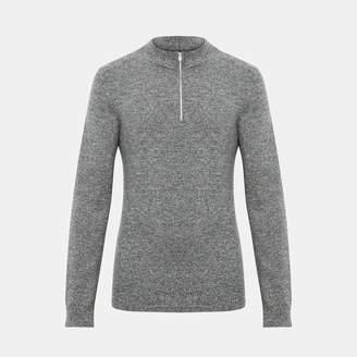 Theory Cashmere Half-Zip Sweater