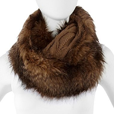 JCPenney Faux Fur Infinity Scarf