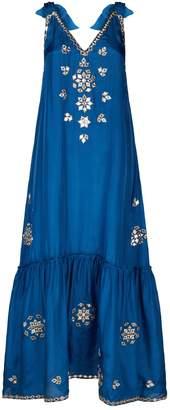 Juliet Dunn Silk Embroidered Dress