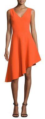 MILLY Asymmetrical Hem Dress $375 thestylecure.com