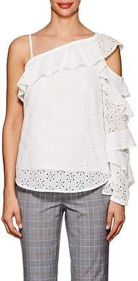 Robert Rodriguez Women's Floral-Embroidered-Eyelet Cotton Top