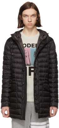 Moncler Black Down Benjamin Coat