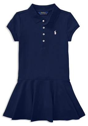 Ralph Lauren Girls' Mesh Polo Shirt Dress - Little Kid