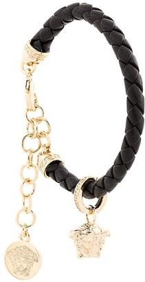 Versace woven Medusa charm bracelet
