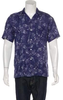 Hartford Printed Linen Shirt w/ Tags