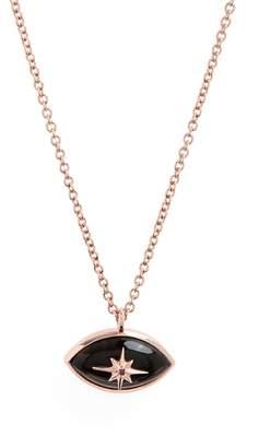 MARLO LAZ Mini Eye Pink Sapphire Star Pendant Necklace