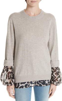 e5a4ce5f086972 Brochu Walker Layered Animal Print Wool   Cashmere Sweater