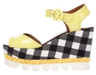 Dolce & Gabbana Plaid Platform Sandals