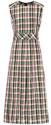Burberry Sleeveless checked dress