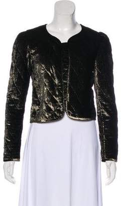 Nili Lotan Velvet Quilted Cropped Jacket w/ Tags
