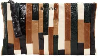 Miu Miu Multicolour Leather Clutch Bag