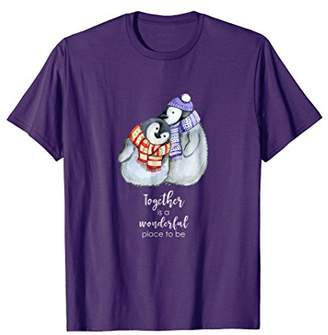 Original Penguin Cute Loving Couple T-Shirt for Holiday