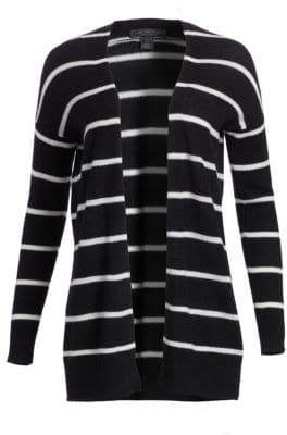 Saks Fifth Avenue COLLECTION Striped Featherweight Cashmere Cardigan