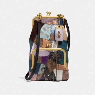 Coach Double Frame Crossbody With Signature Patchwork a47bb85e0d384