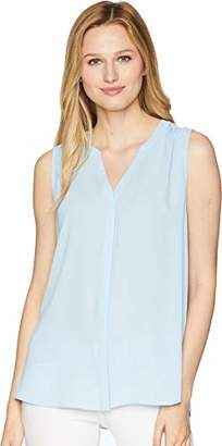 NYDJ Women's Sleeveless Pintuck Blouse