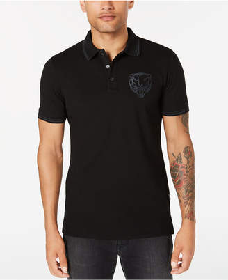 Just Cavalli Men's Lion Embroidered Polo