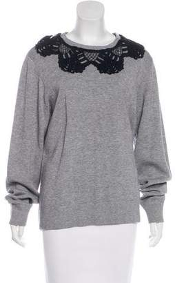 Marc Jacobs Lace-Trimmed Oversize Sweatshirt