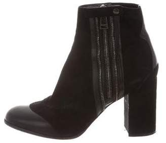 Belstaff Leather Cap-Toe Ankle Boots