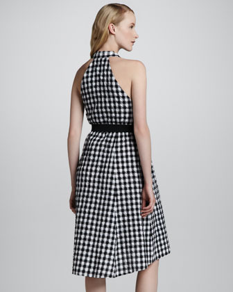 Nanette Lepore Love Parade Gingham Halter Dress