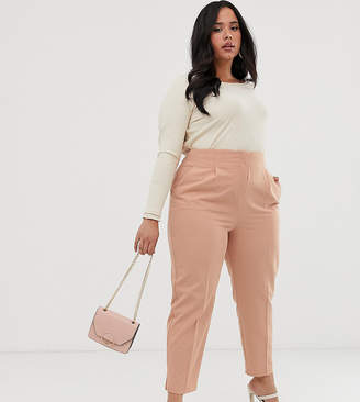 Asos DESIGN Curve mix & match high waist cigarette trousers