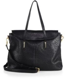 Elizabeth and James Pyramid Pebbled-Leather Satchel $545 thestylecure.com